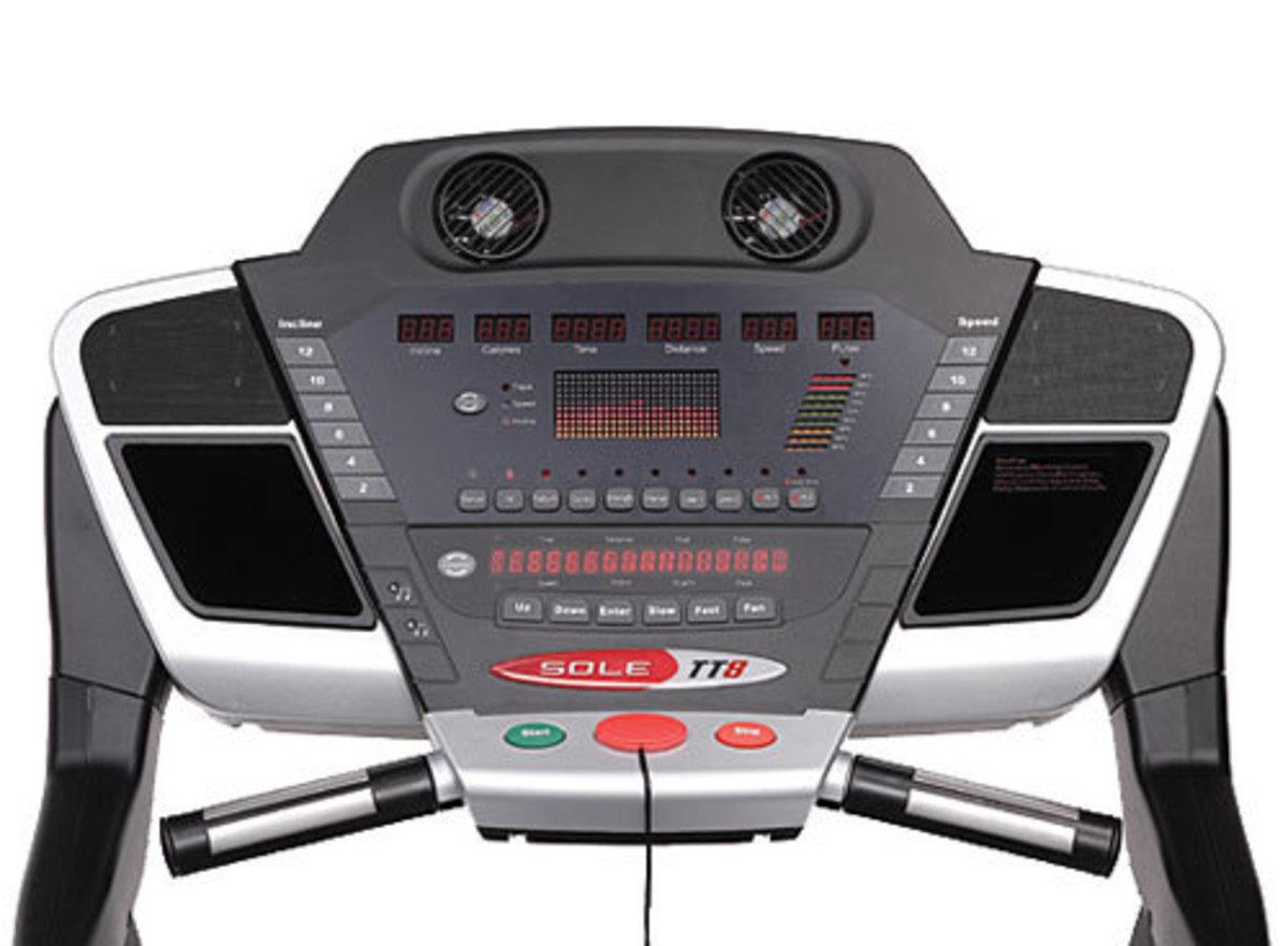 Sole TT8 Treadmill Console