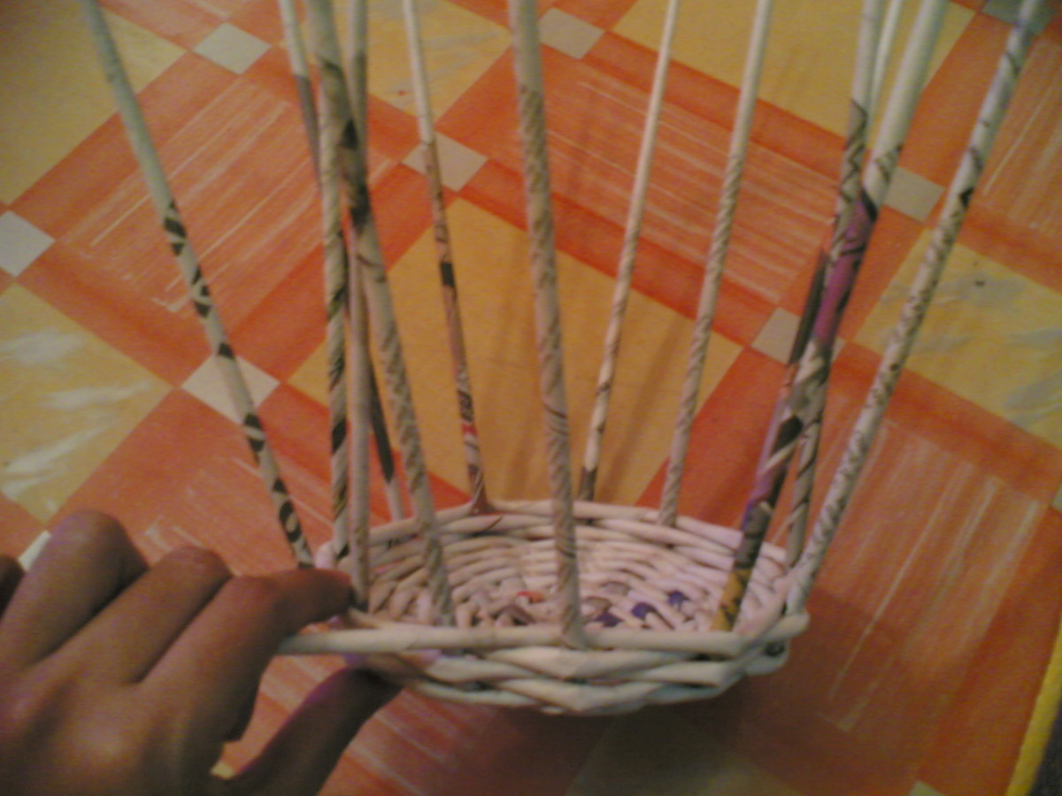 5.Weave the wall of basket