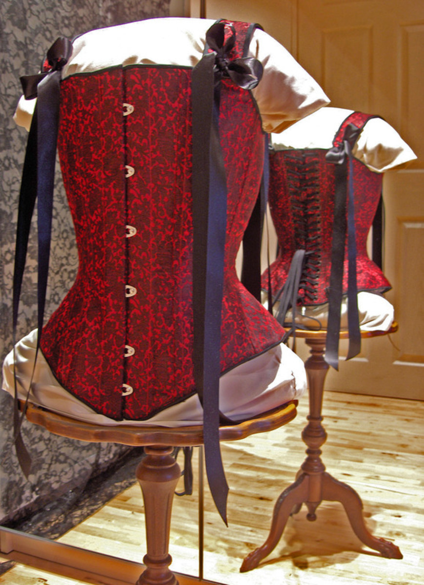 "Brocade ""hybrid"" corset with straps by Harman Hay"