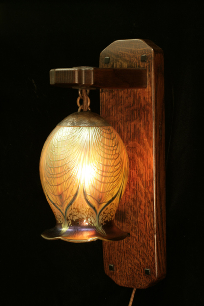 Artisan Hand Crafted Sconce with Blown Glass Shade