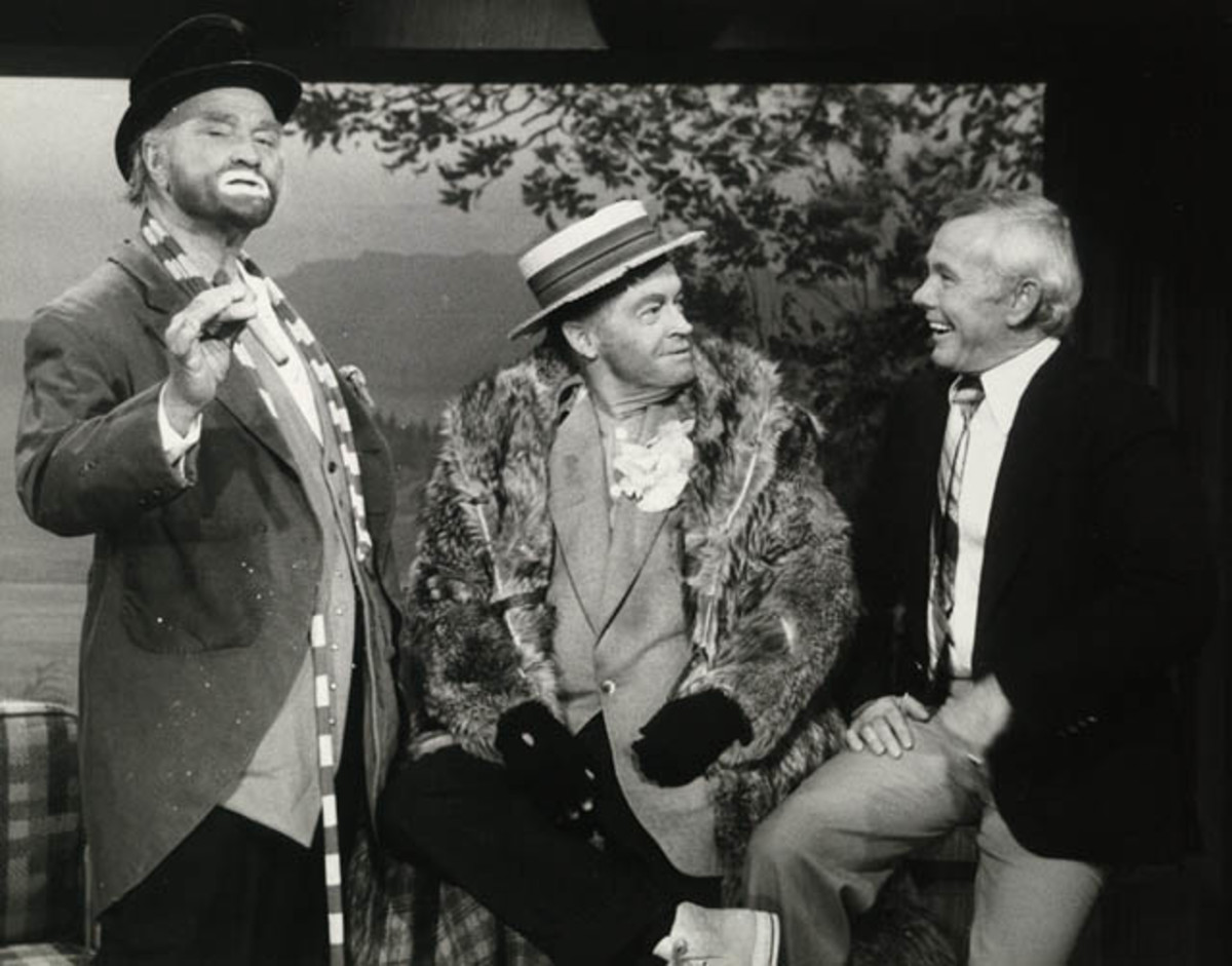 Red Skelton, Bob Hope, and Johnny Carson