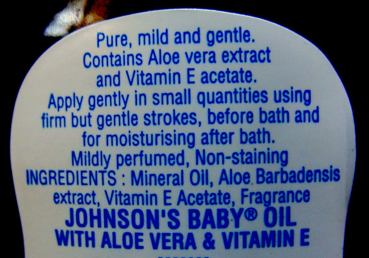 Baby oil ingredients today.