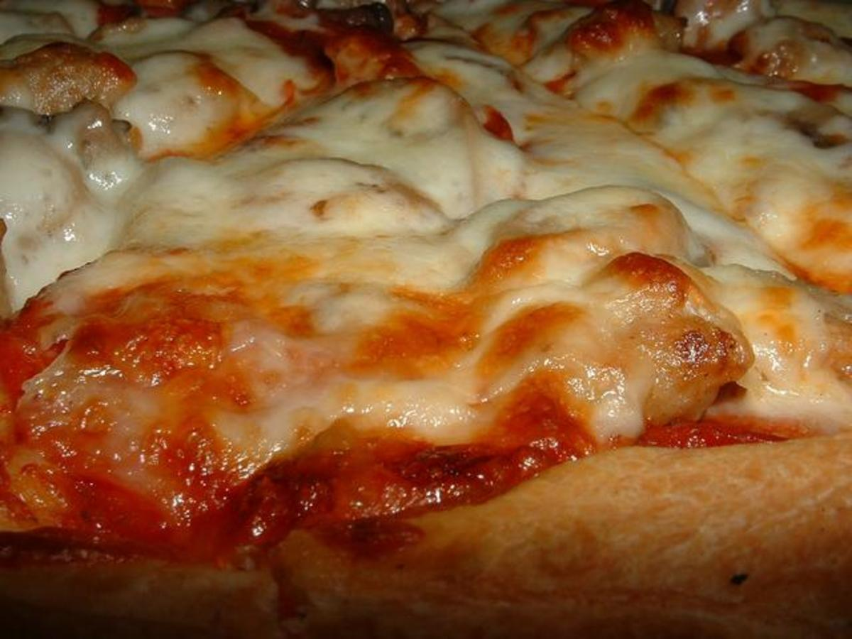Image: Cheese Baked Golden Brown on Pizza