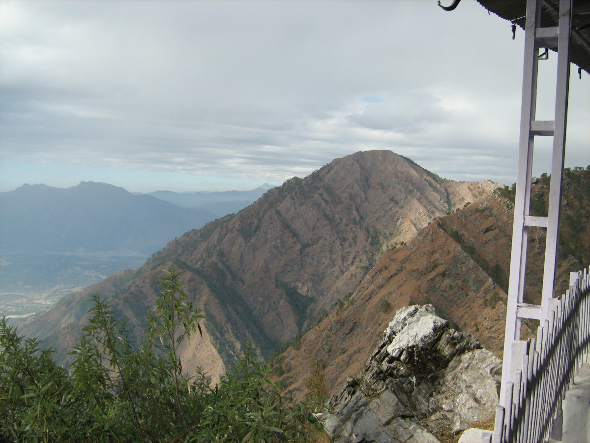 A view of Trikuta mountains from Mata Vaishno Devi.