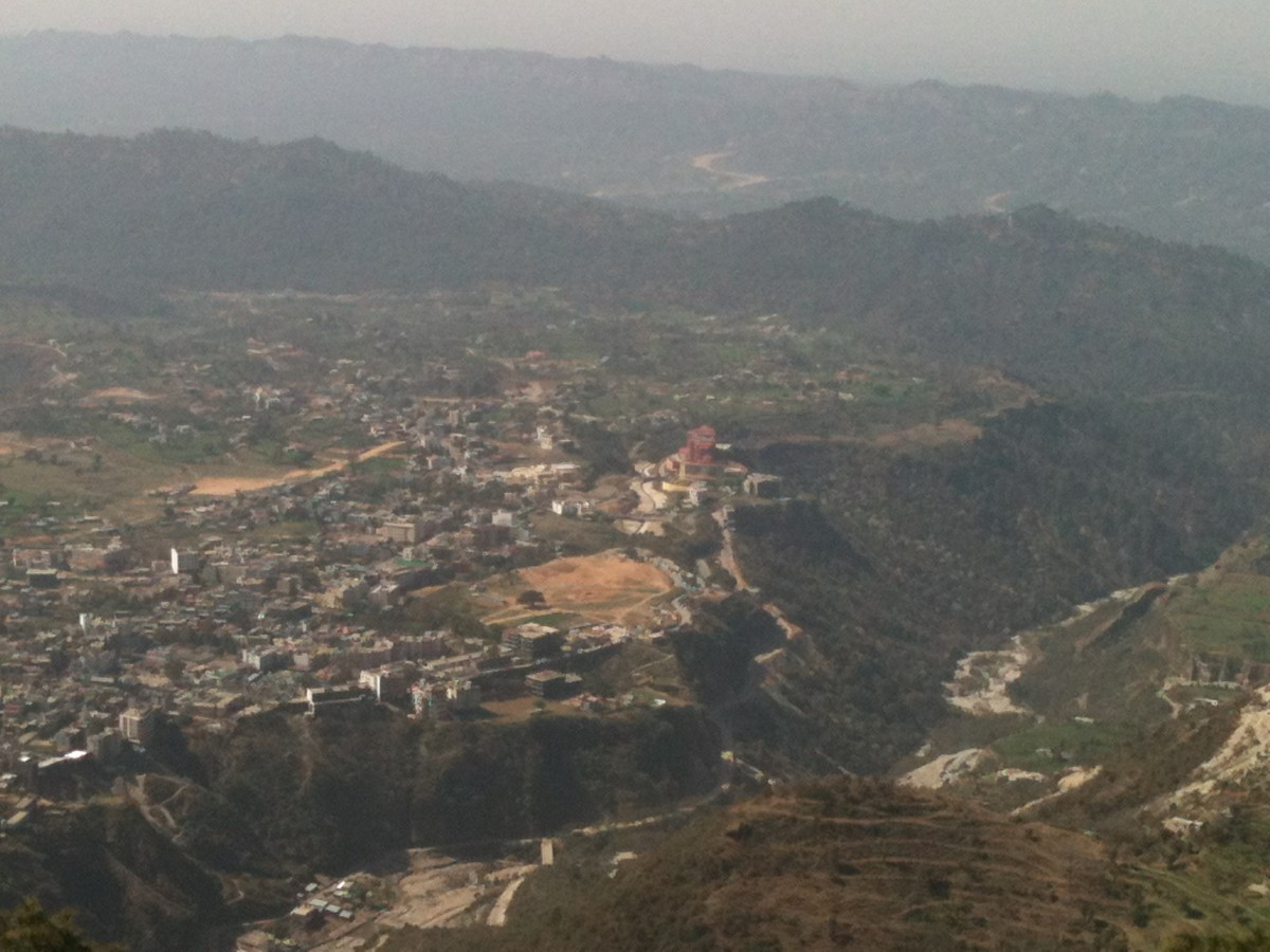 Katra Valley as seen from Mata Vaishno Devi Shrine. Jai Mata Di - Maa Vaishno Devi Yatra 2012