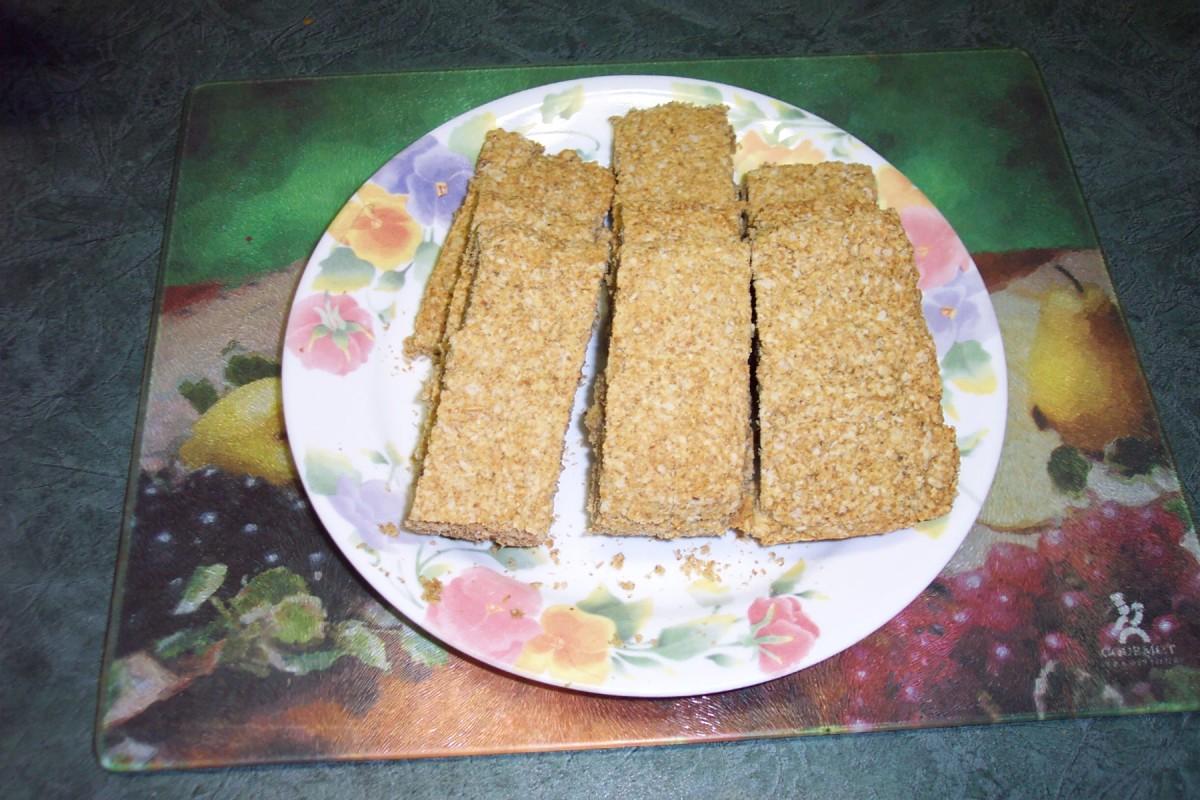 Image: Baked Oatcakes on Plate