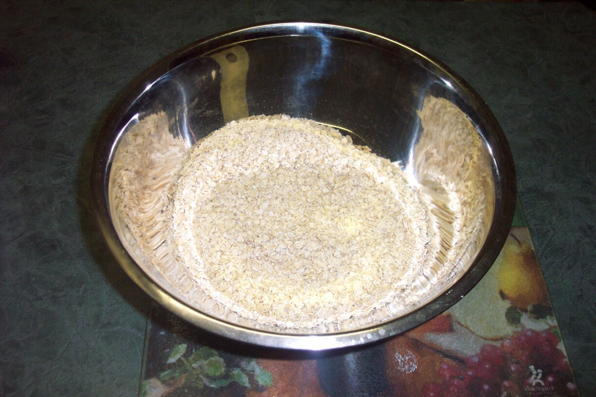 Image: Dry Ingredients for Oatcakes