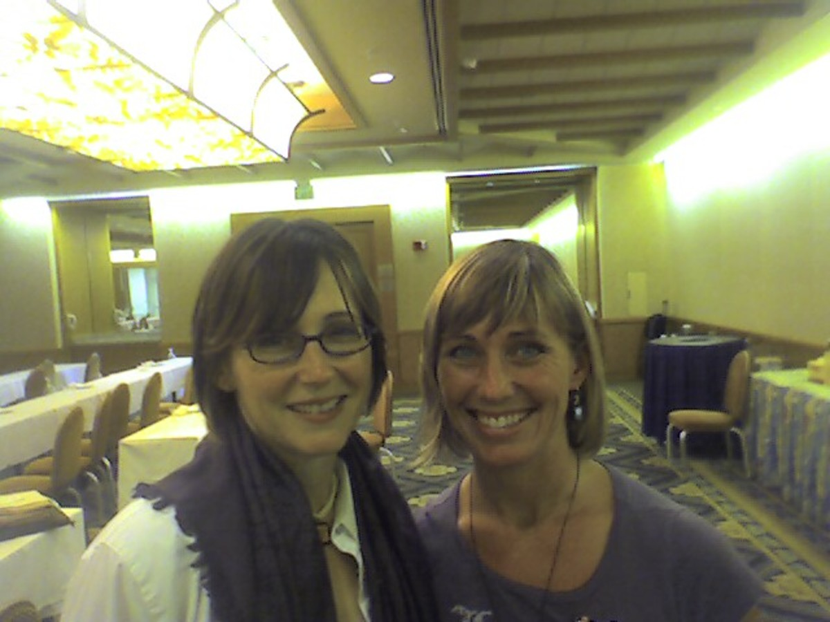 Me and Lisa Coltman, Sunfusion Designs