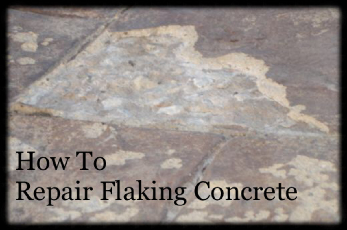 How to Repair Flaking Concrete