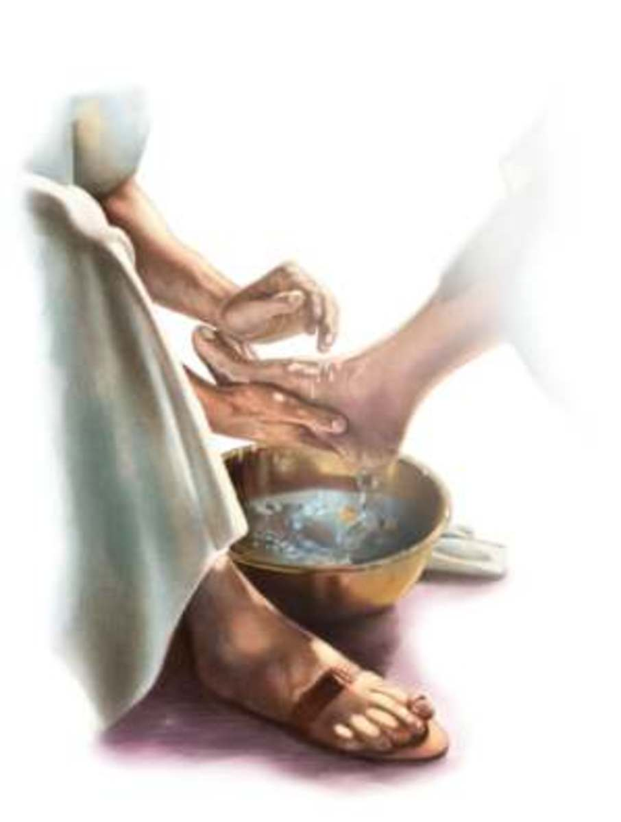 Jesus Christ showed humility as he washed his disciple's feet.