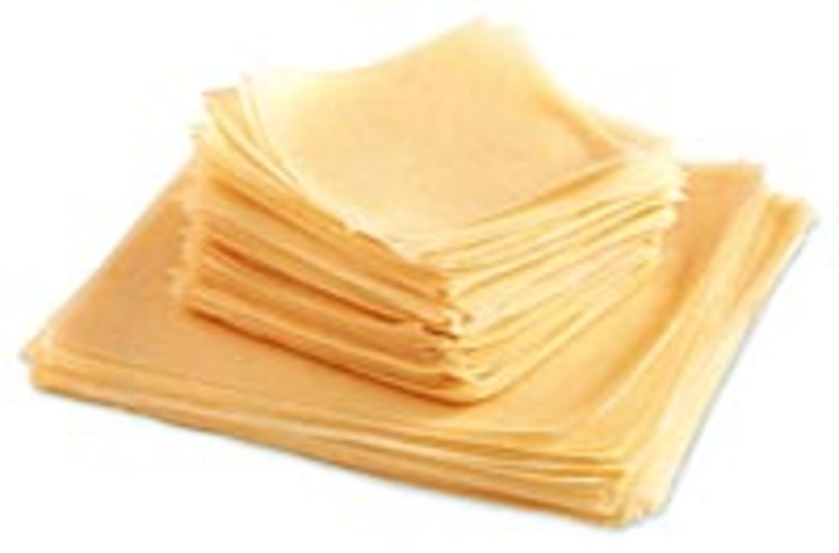 shanghai wrappers of different sizes (for Shanghai Lumpia)