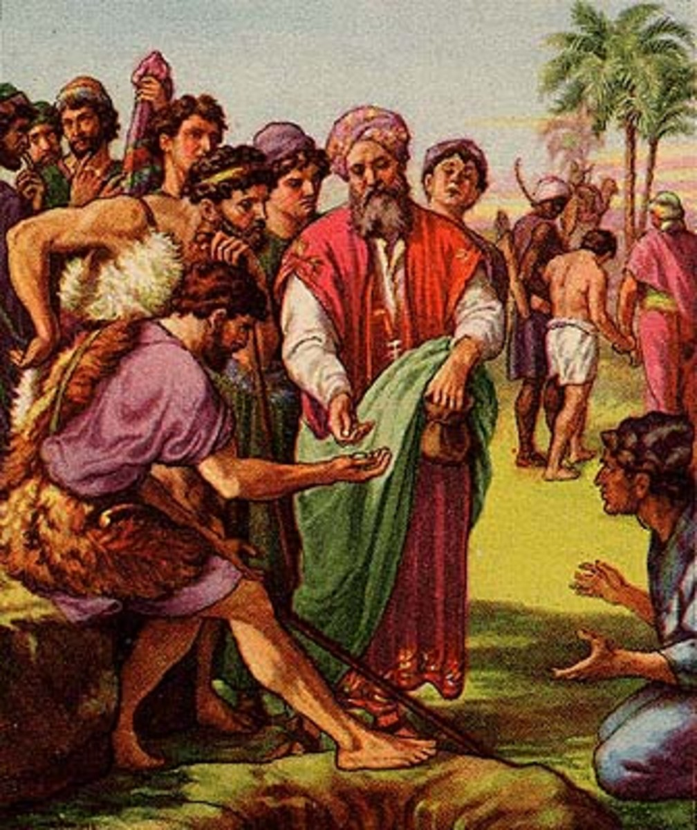 Joseph being sold into slavery by his brothers