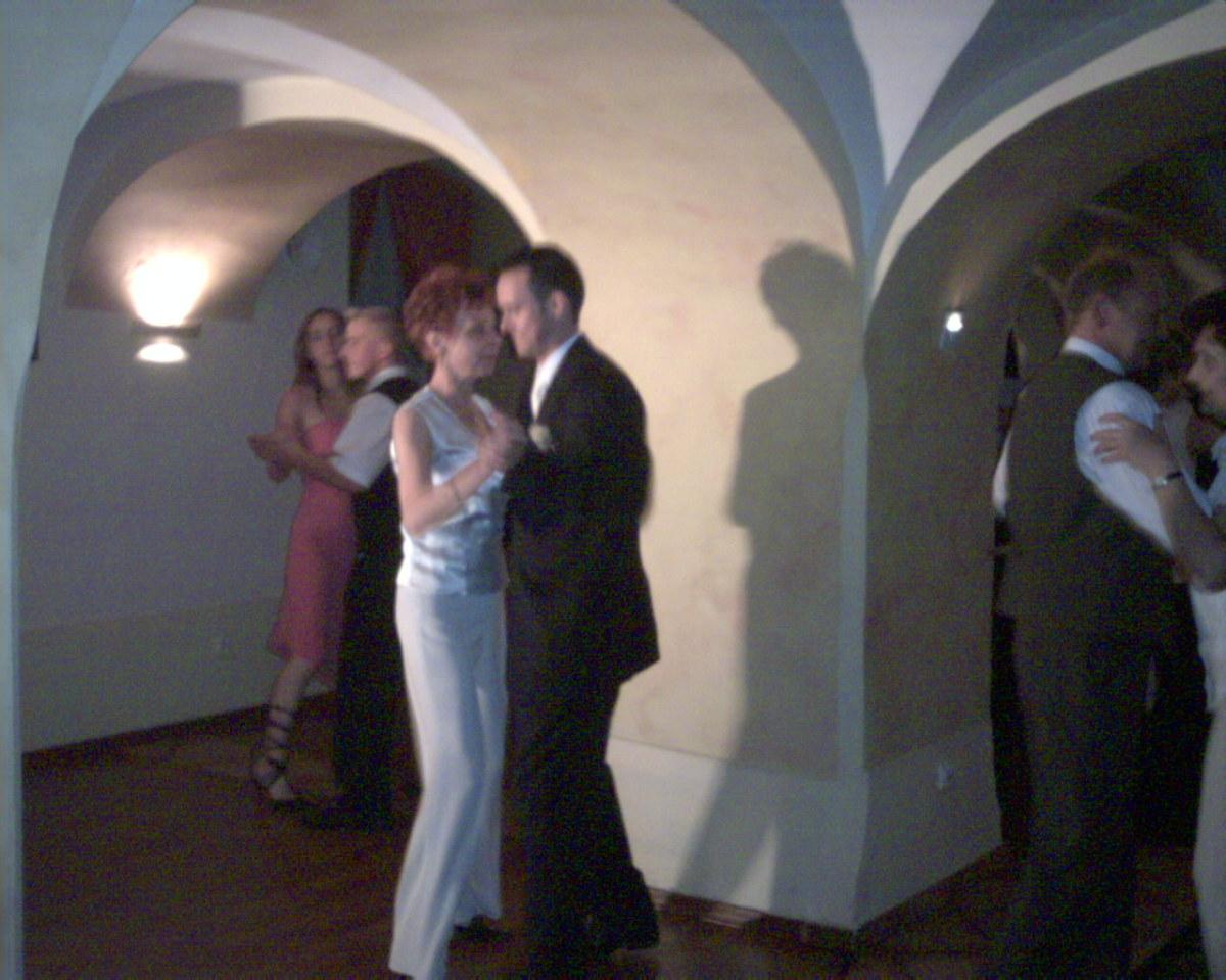 Dancing in the Atrium.