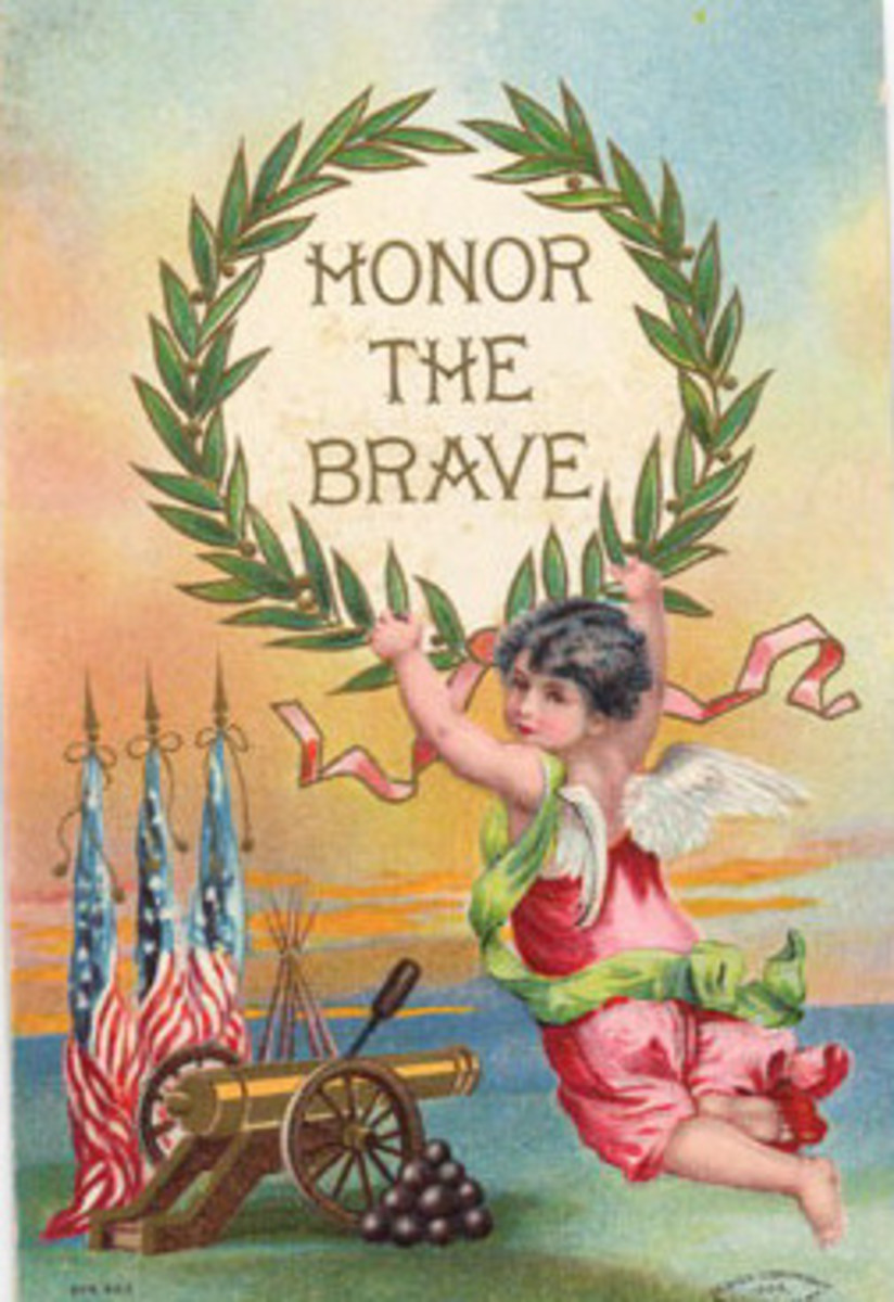 Free vintage post cards for Memorial Day: Honor the brave