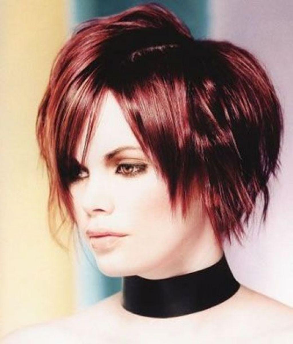 short colored pixie hair cut