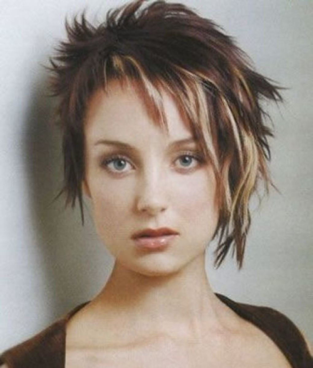 You are free to choose any types of hair color, as punk hairstyles
