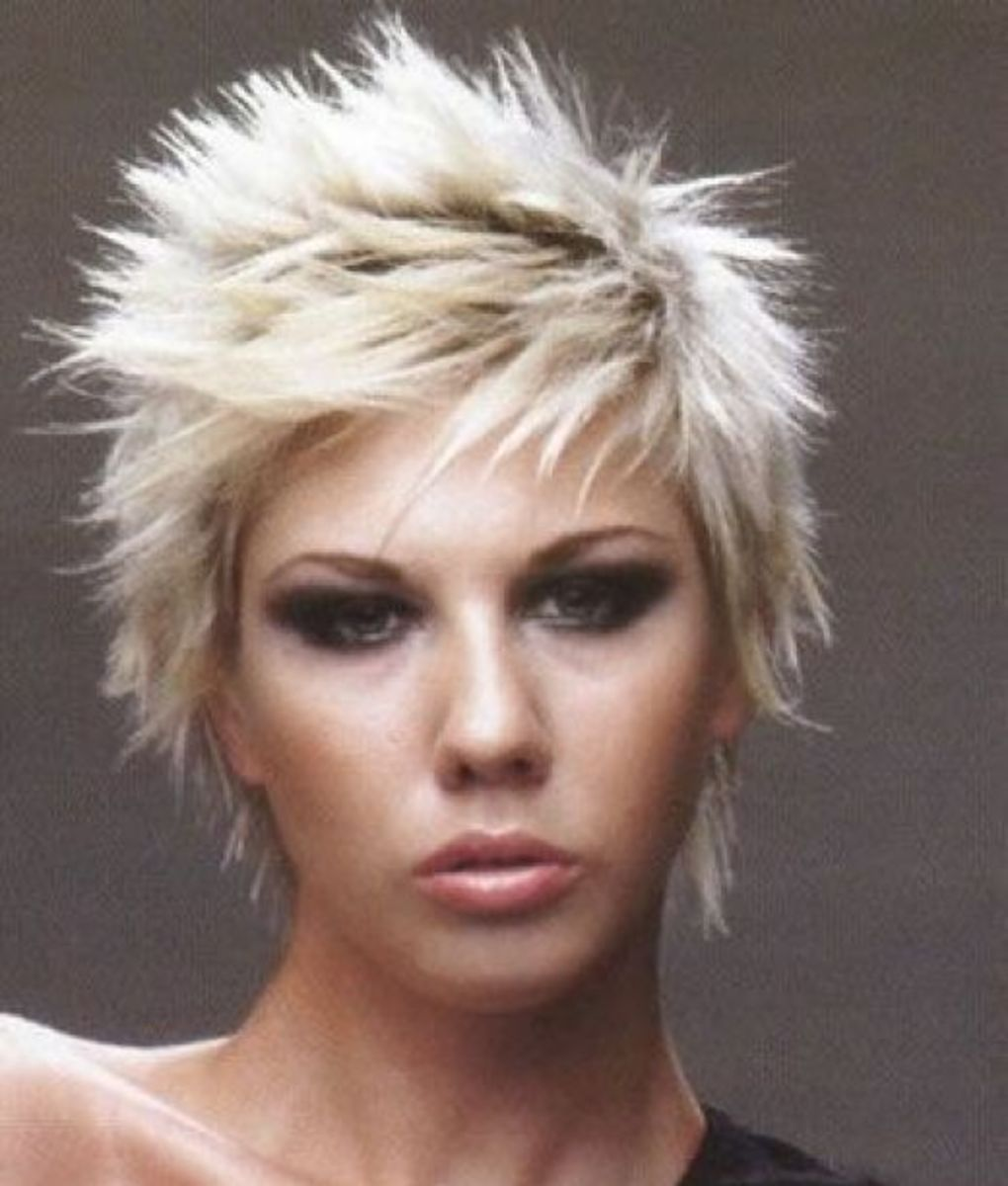 short punk hairstyle in adifferent variety