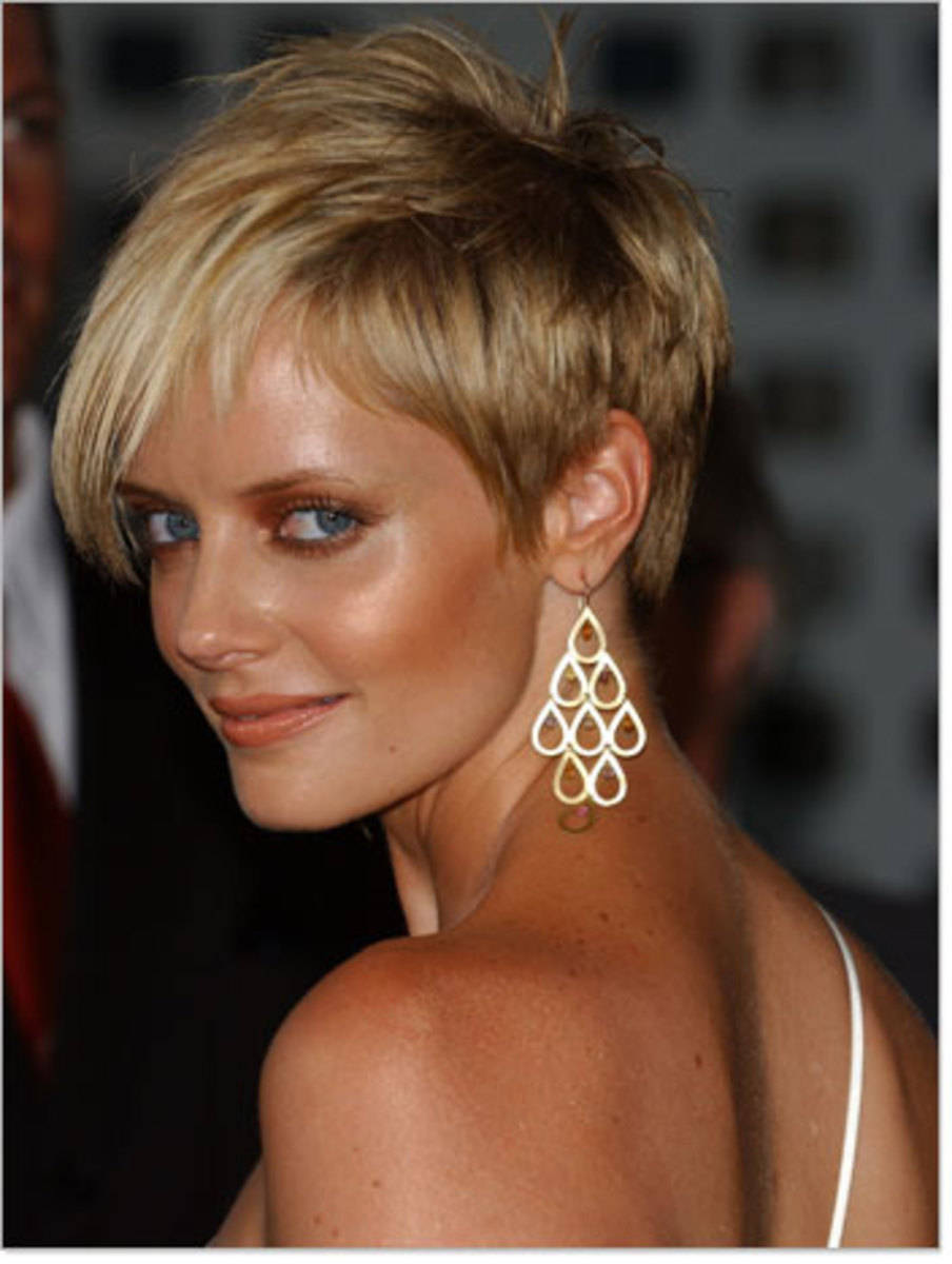 short crop haircut with funky look