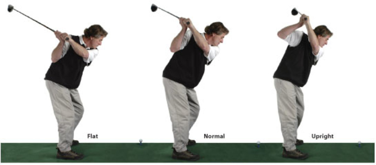 Use A Flatter Swing Similar to the One on the Far Left