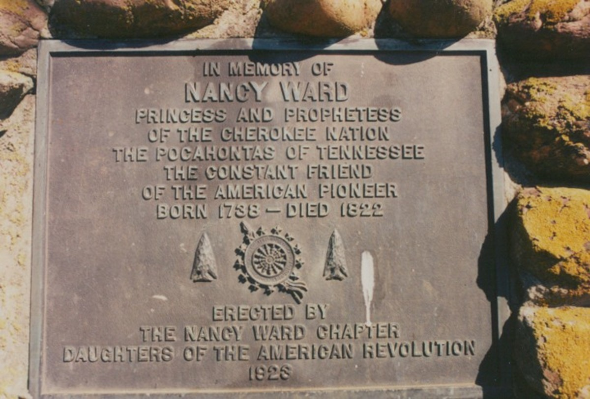 This marker is on the pyramid of stones marking her grave.