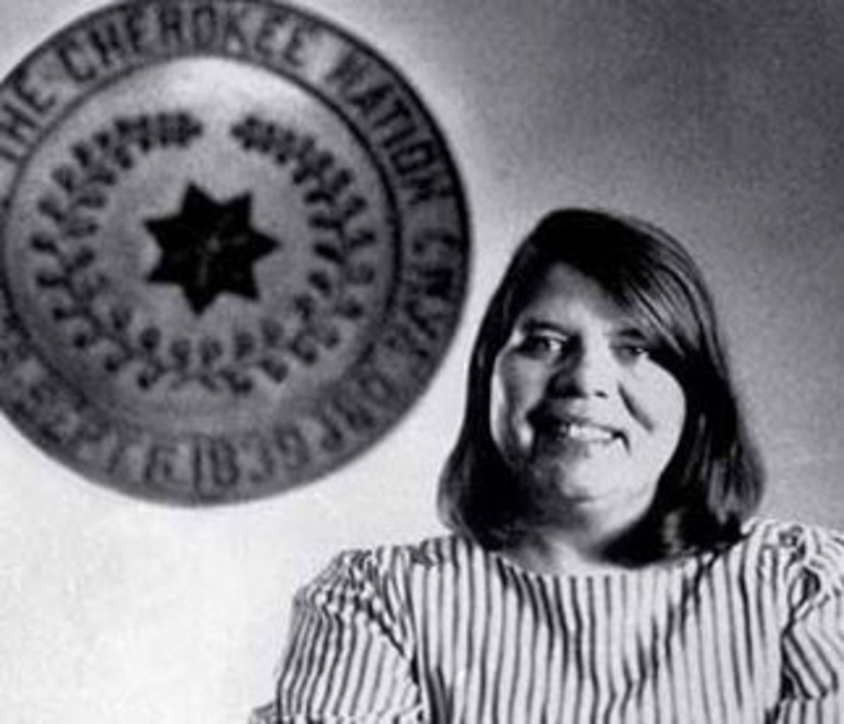 Wilma Mankiller on the day in 1985 when her election as chief of the Cherokee Nation was announced.