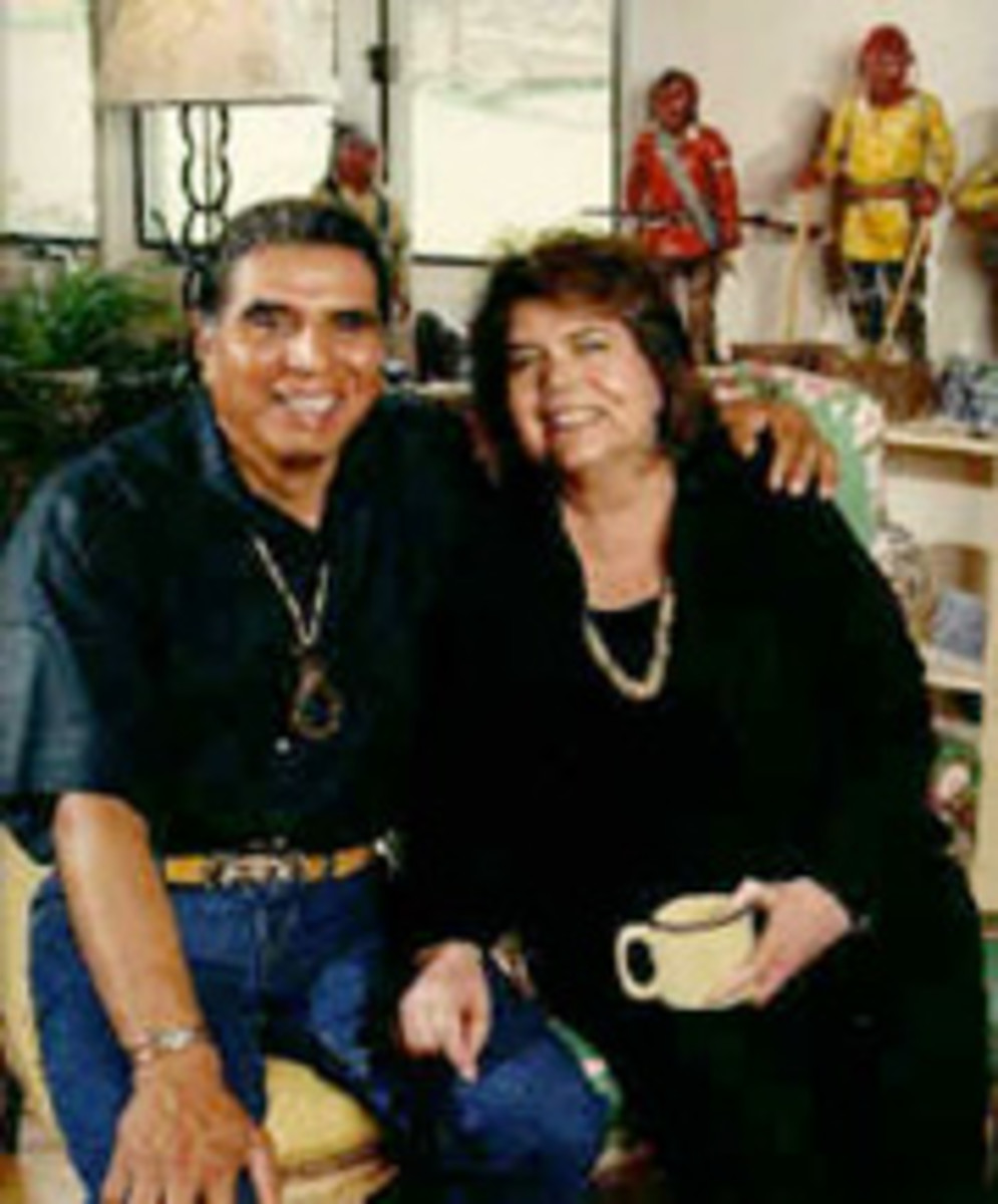 Wilma with her husband Charlie Soap
