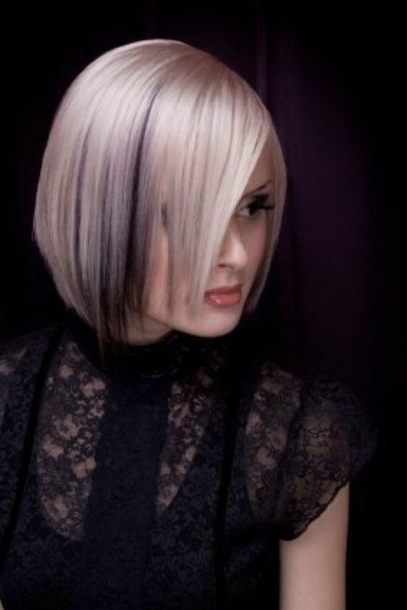 short slightly black colored sedu hairstyle for women