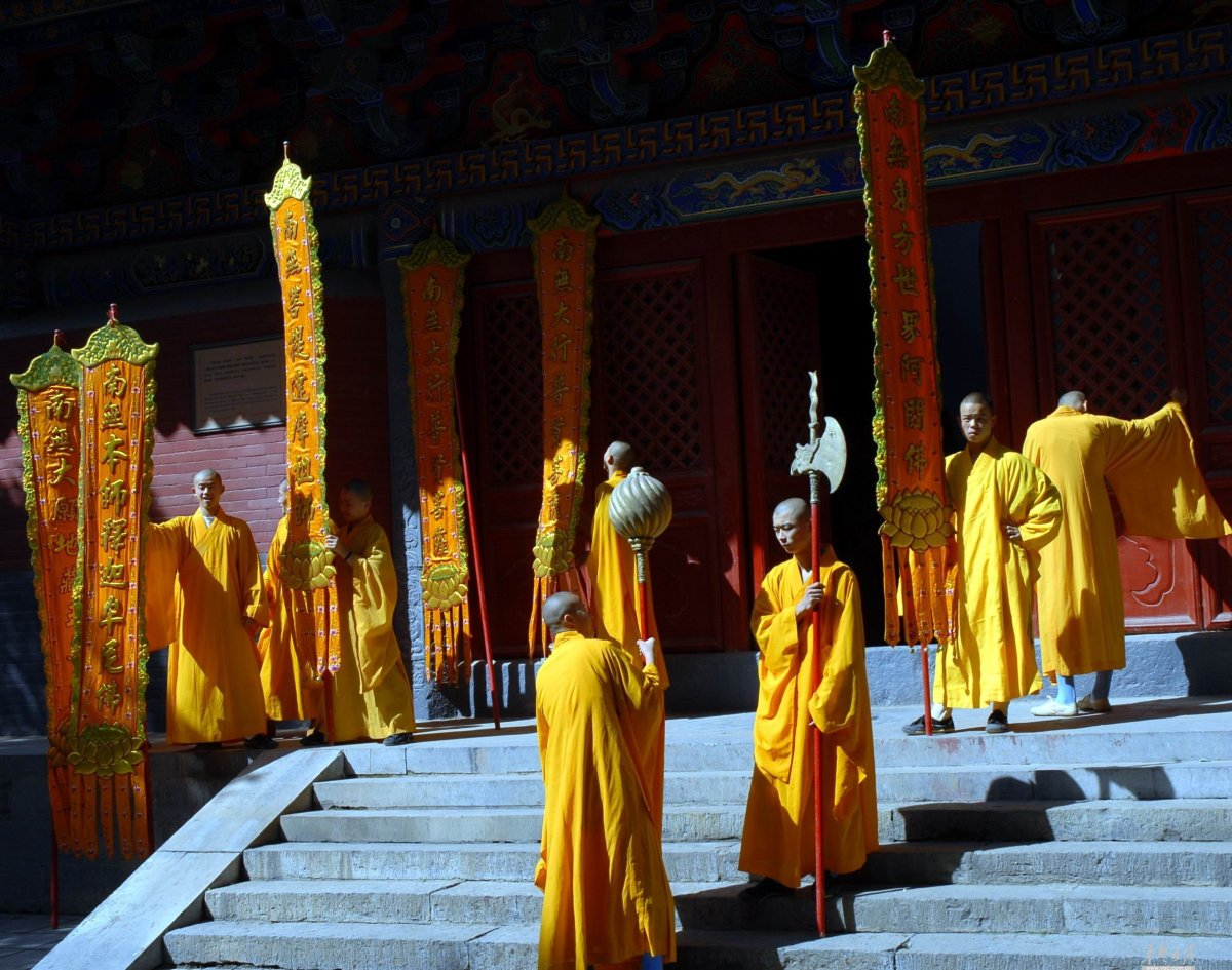 The Northern Shaolin Temple in the northern province of Honan.