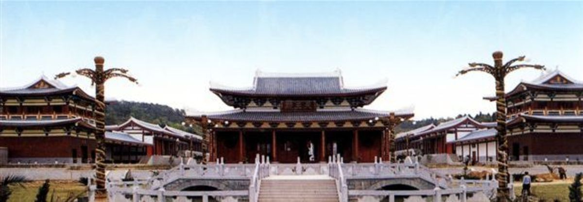 The reconstructed southern Shaolin Temple