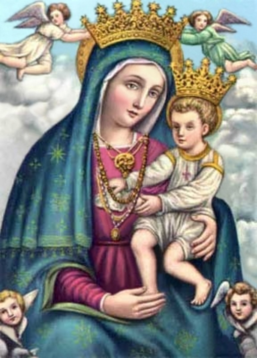 Mary and Jesus Crowned and Enthroned In Heaven
