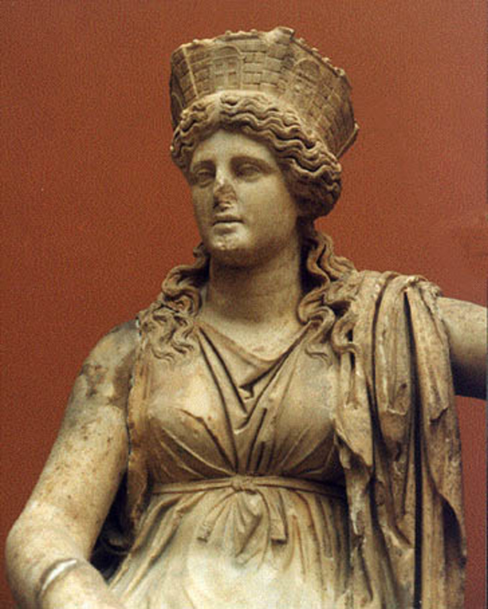 The Goddess Hera crowned and enthroned...