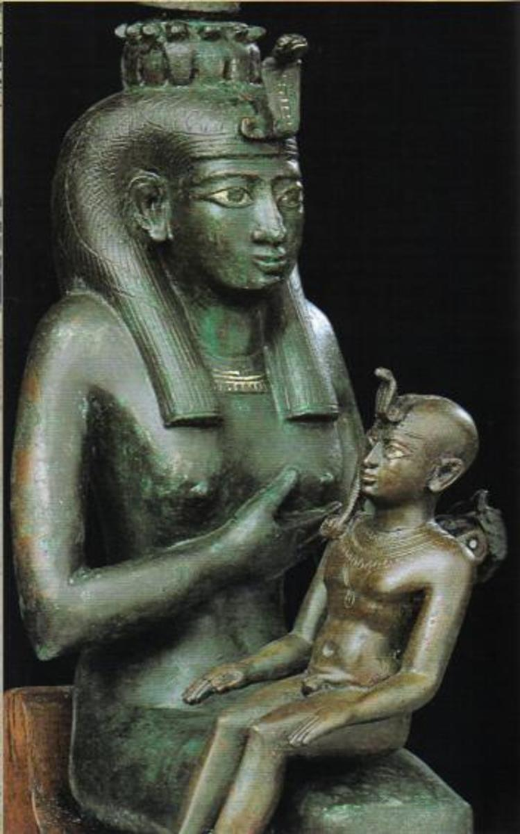 The Great Queen Isis Breastfeeding The Infant Horus