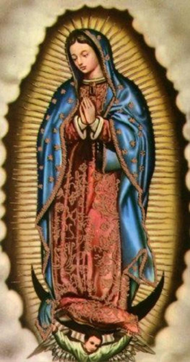 Our Lady Of Guadalupe Standing Upon The Cresent Moon