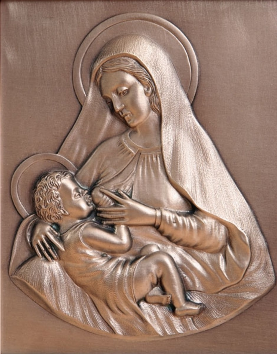 The Blessed Mother Breastfeeding Jesus