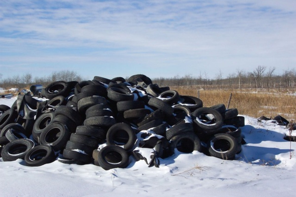 Waste tires could be used as an ingredient to improve asphalt pavements.
