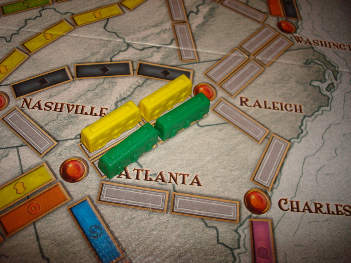 Double Routes - You Can Use One of the Routes in 2-3 Player Game