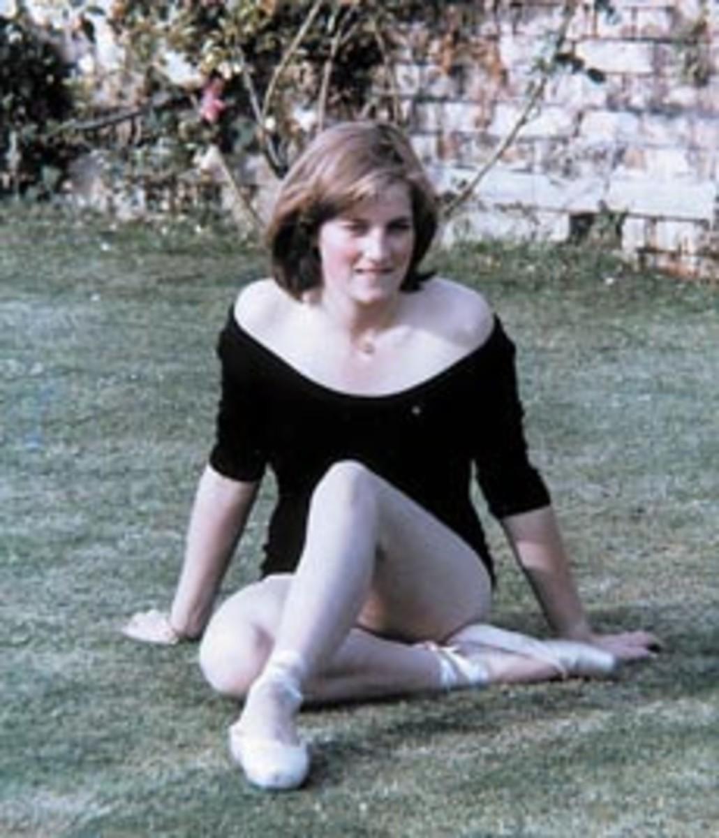 Teenage Diana studied ballet