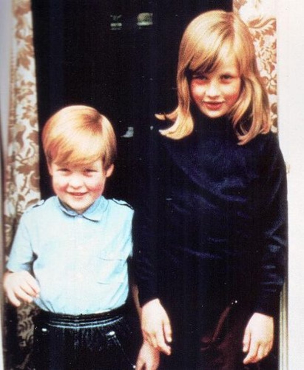 With her young brother