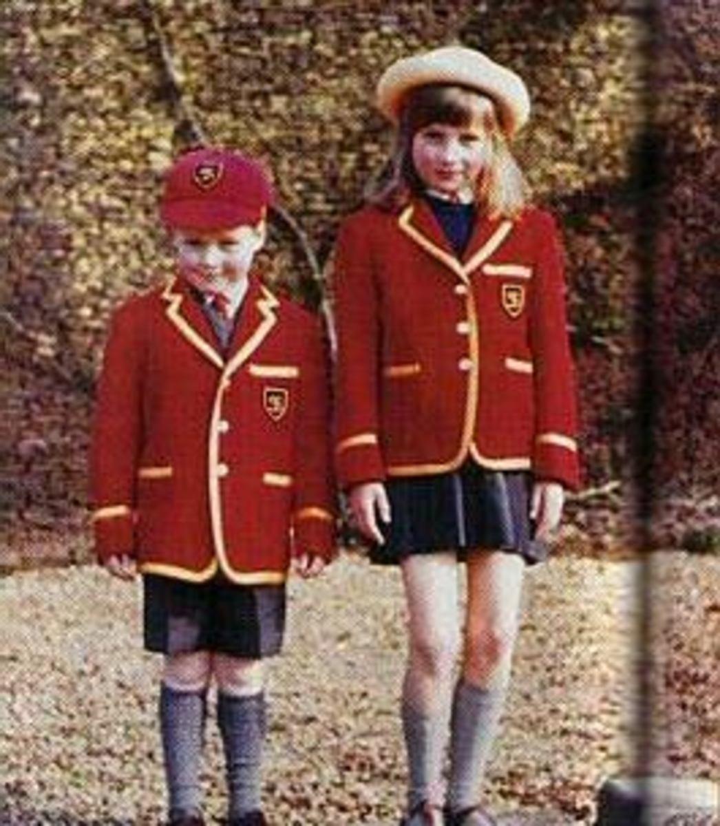 Schooldays with her brother