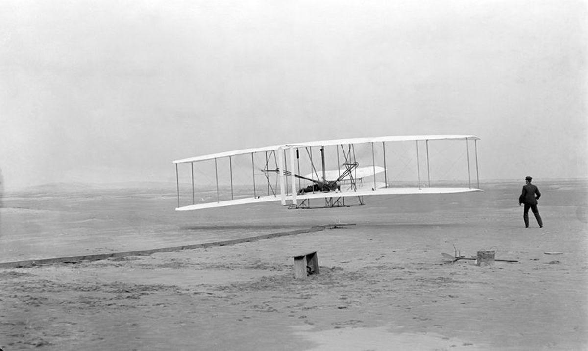 The Wright Brothers and their Flyer