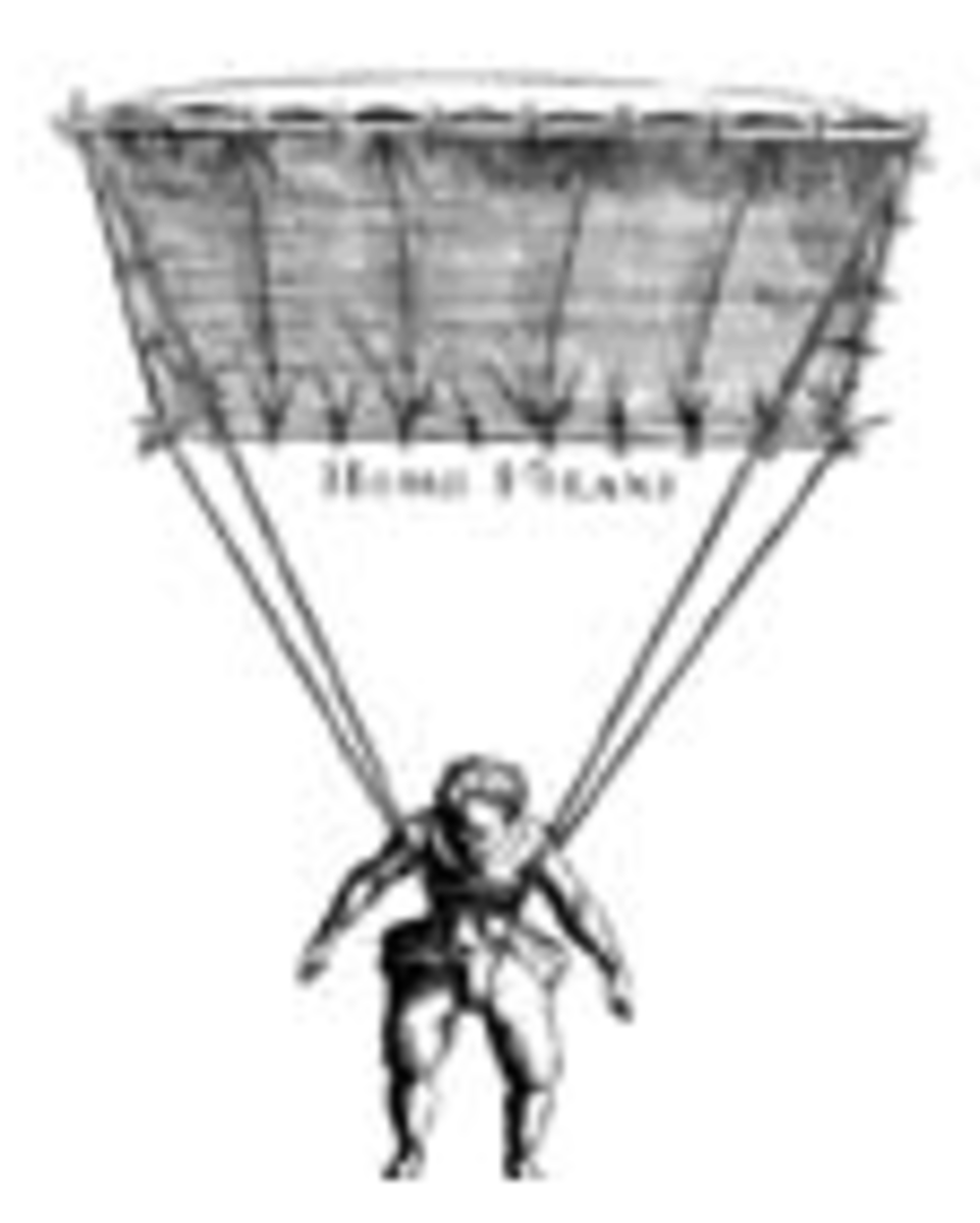 An early parachute rendering