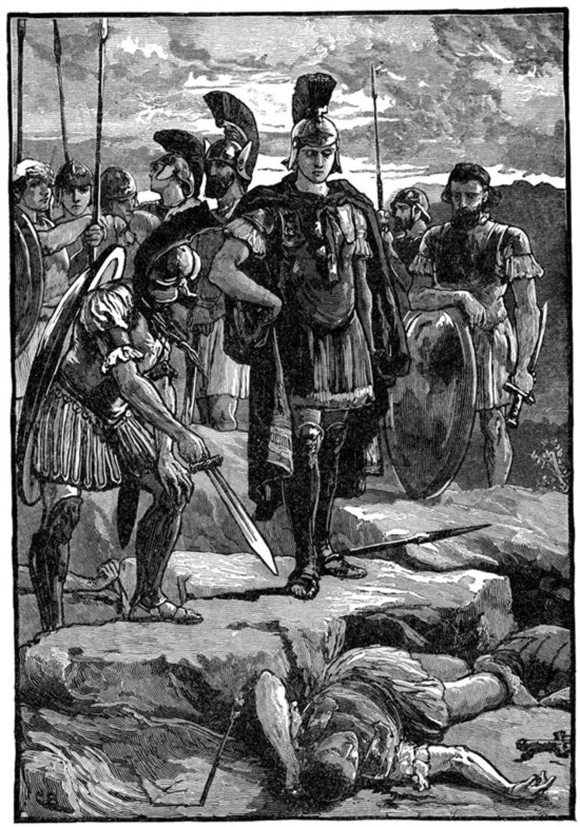 Alexander finds the body of Darius
