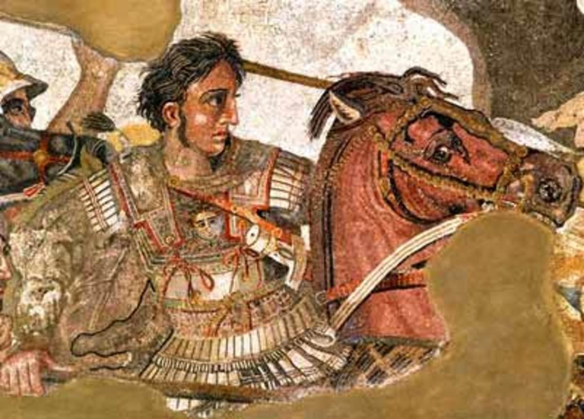 """Detail of Alexander from """"Alexander Mosaic"""""""