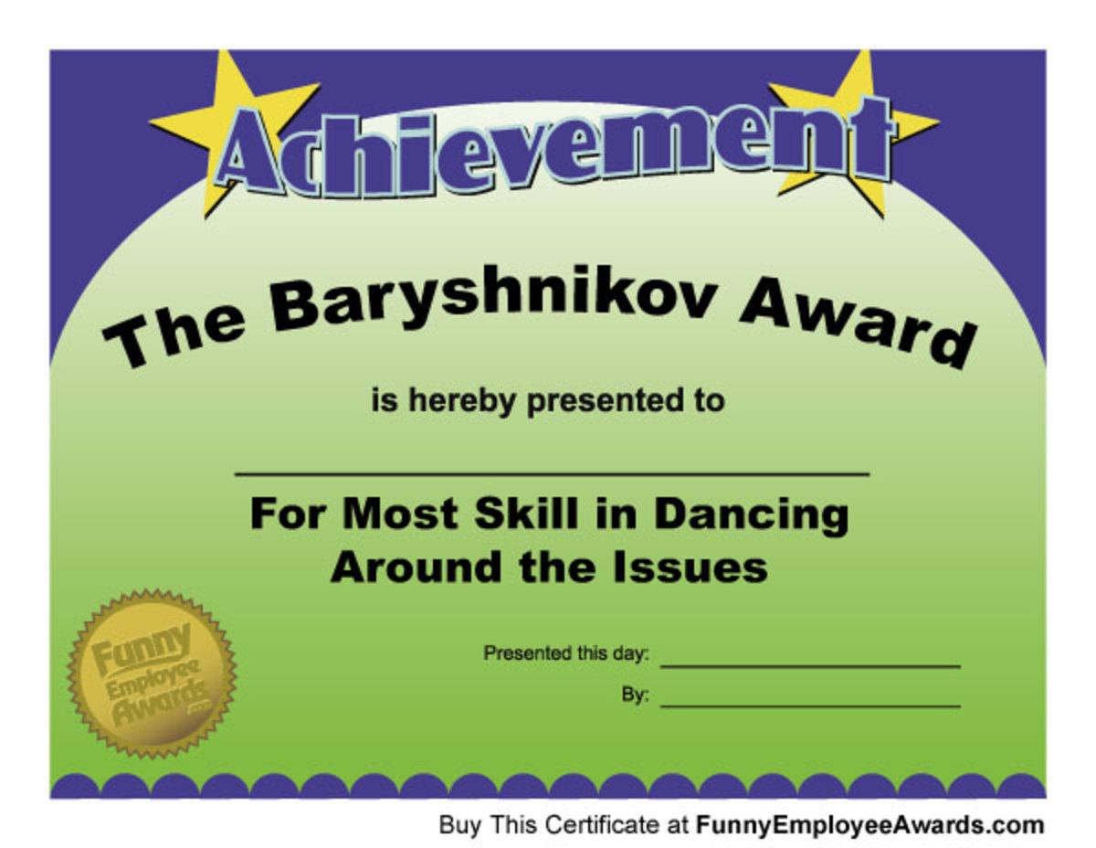 Fun Award Certificates