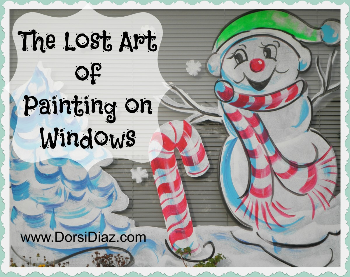 "One of my ""signature"" characters I paint every year - a very merry and frosty snowman that has become a favorite for many. Christmas window painting by Dorsi Diaz in the San Francisco Bay Area."