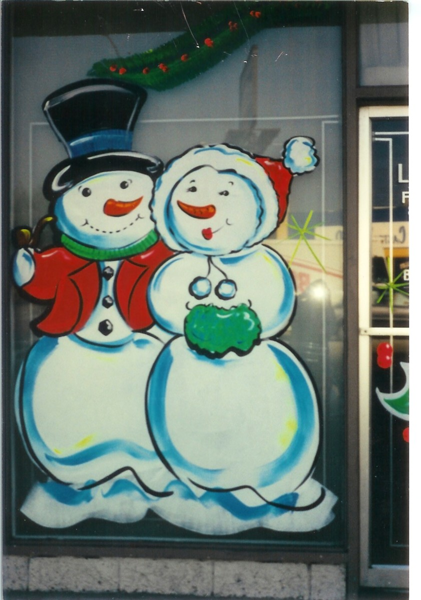 Snow People are one of my favorites. Christmas painting on glass is alot of fun and can be very lucrative.
