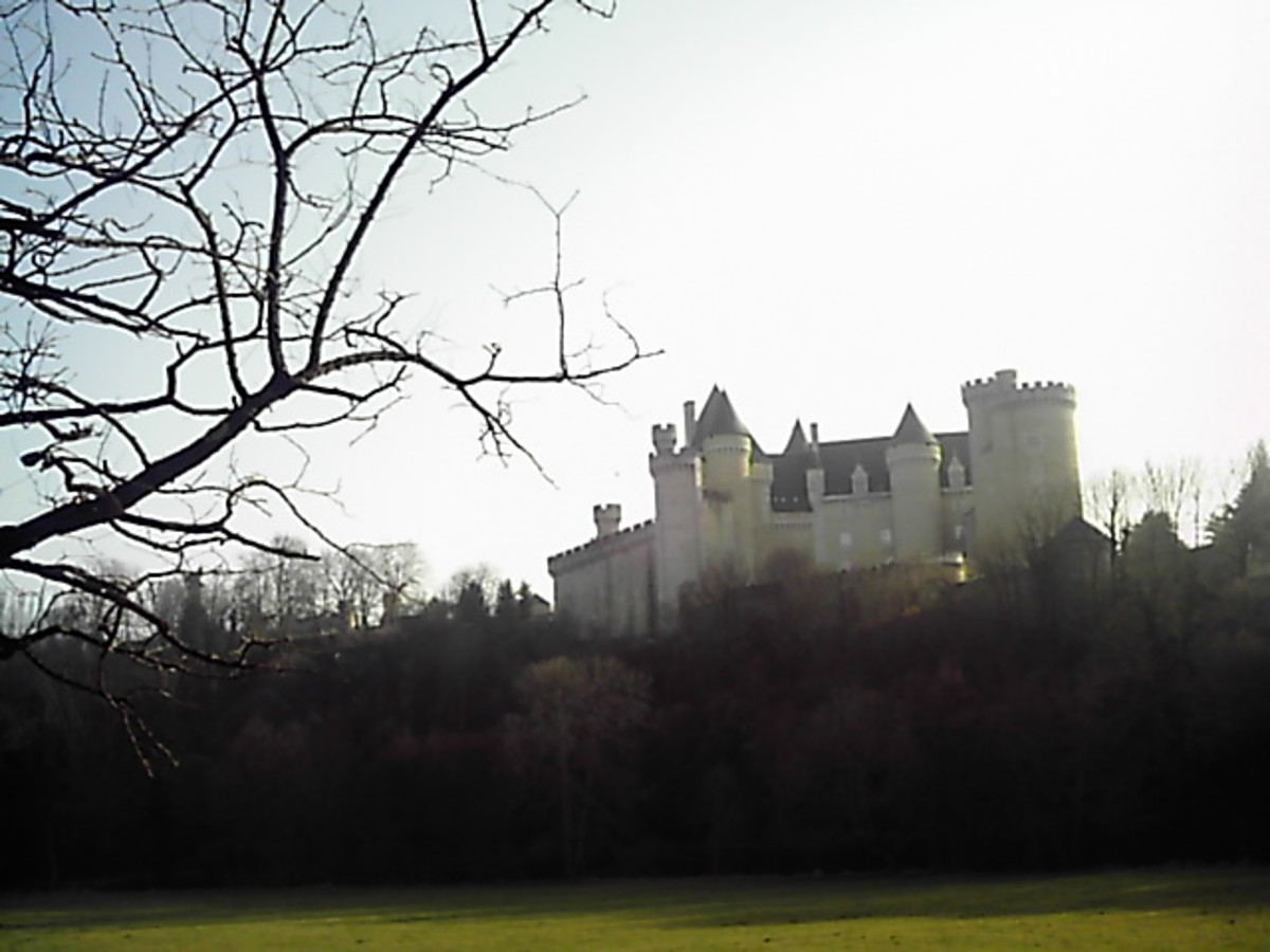 Chateau de Chabenet from the distance