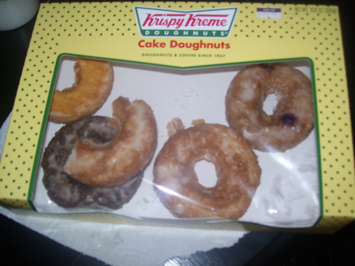 A variety of cake doughnuts (that my family started to eat before I could photograph them)-$3.78 at Albertson's.
