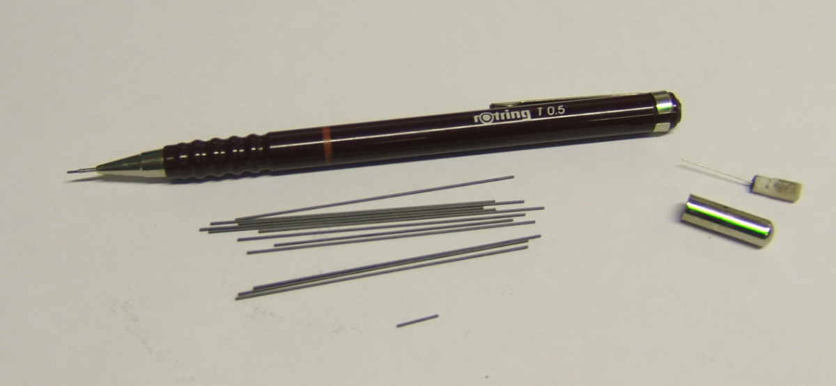 This contains multiple sticks of graphite that you can buy quite inexpensively and is my number one tool.