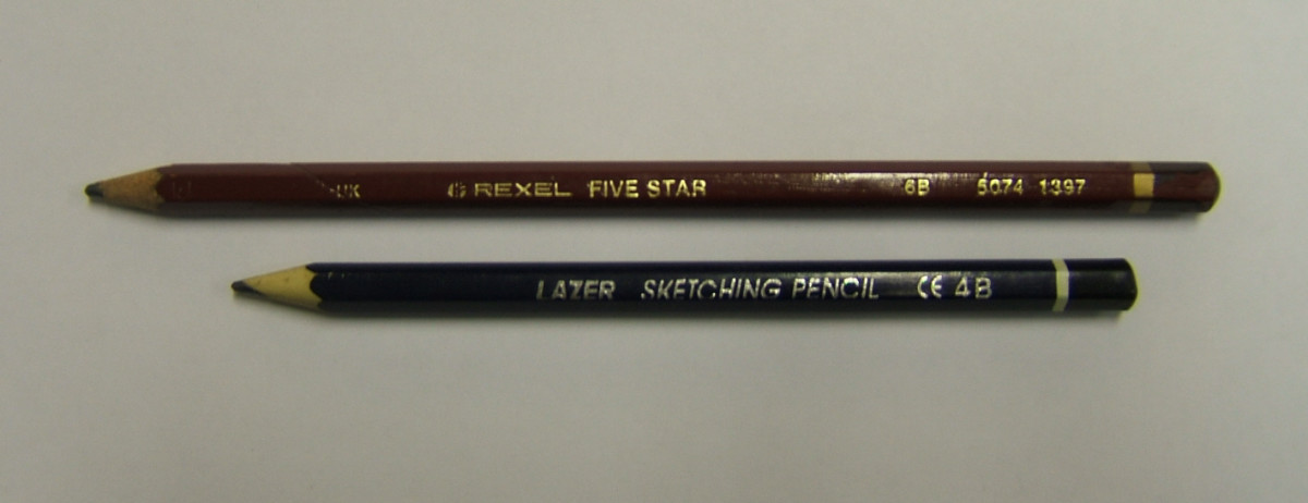A 4B and 6B, these pencils are both soft pencils.